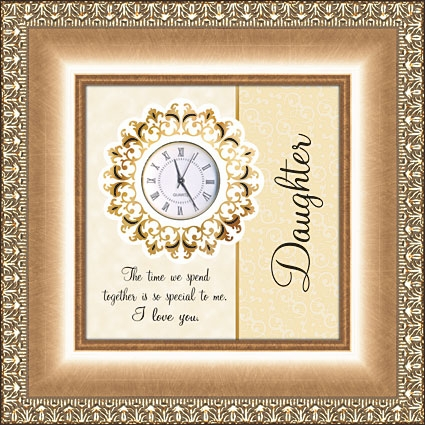 Framed Table Clock General Verse - Daughter