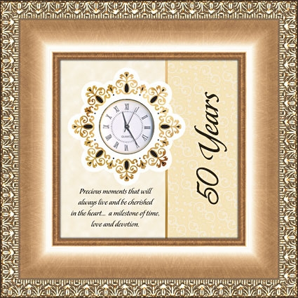 Framed Table Clock General Verse - 50 Years