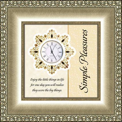 Framed Table Clock General Verse - Simple Pleasures