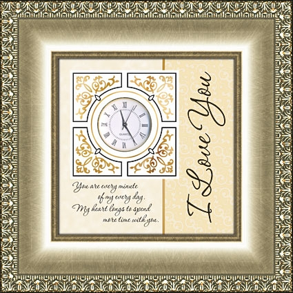 Framed Table Clock General Verse - I Love You