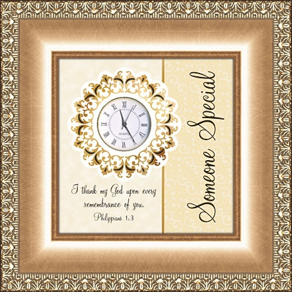 Framed Table Clock Christian Verse - Someone Special