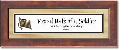 Wife of a Soldier Framed Tabletop Christian Verse