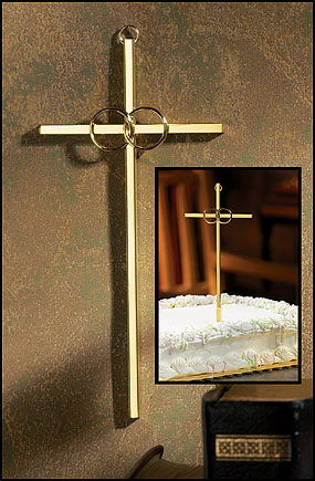 "7"" Brass Wedding Cross"