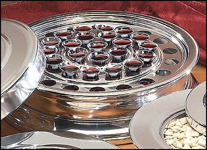 Silvertone Communion Tray