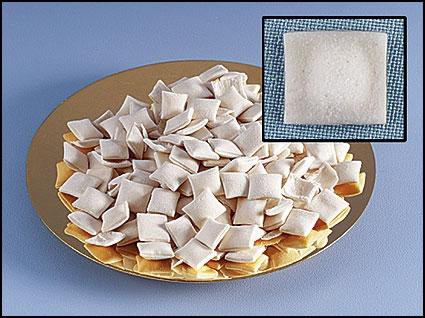 White Puffed Communion Bread