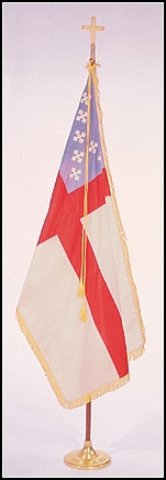 Episcopal Flag with Pole and Stand