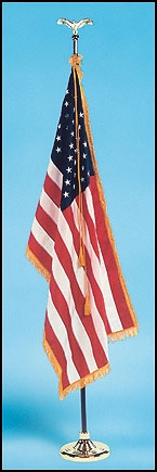 American Flag with Pole and Stand