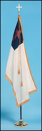 XL Christian Flag with Pole and Stand