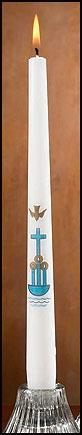 Cross/Dove Baptismal Candle - 24/pk