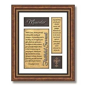 Minister 1 Timothy 4:13-16 Framed Verse