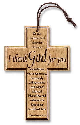 Appreciation Wood Prayer Cross - 12/pk