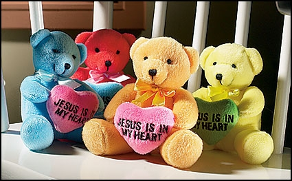 Jesus is in My Heart Bear Assortment - 12/pk
