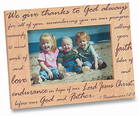 We Give Thanks to God Always Photo Frame - 6/pk