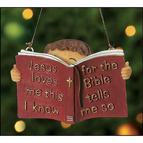 Jesus Loves Me, This I Know Ornament