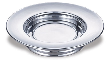 Polished Aluminum Stacking Bread Plate