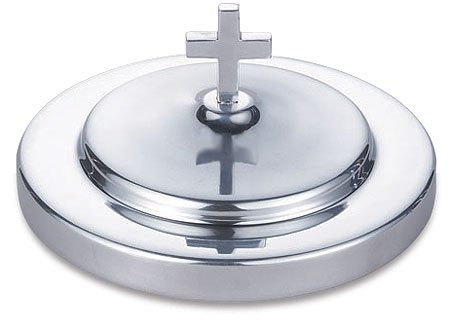 Polished Aluminum Bread Plate Cover - Silver Tone