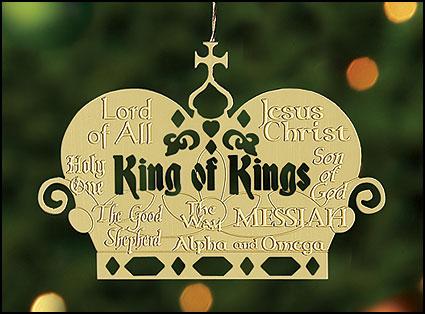 King of Kings Brass Ornament