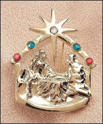 Nativity Lapel Pin