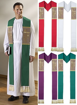 Alpha Omega Stole with Tassels