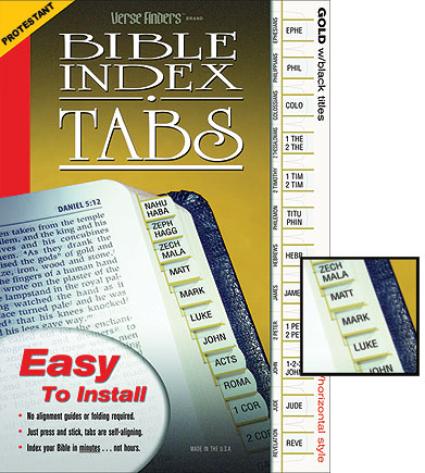 Standard Verse Finder Tabs - Protestant Version