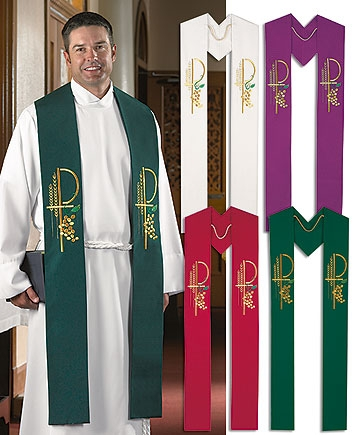 Set of 4 Clergy Stoles