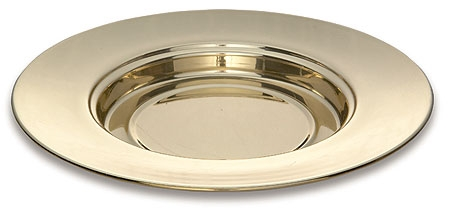 Solid Brass Bread Plate