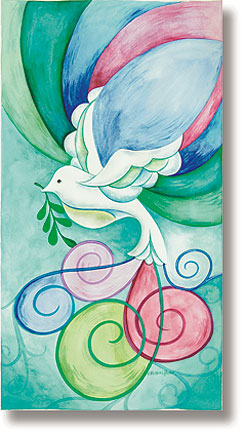 Stained Glass Dove Banner