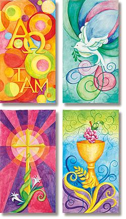 Watercolor Symbols of Faith Banner Set
