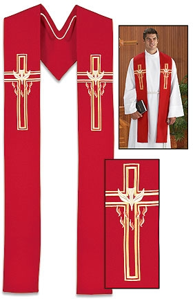 Descending Dove - Red Stole