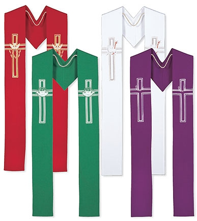 Set of 4  Seasonal Stoles