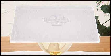 100% Linen Chalice Pall with Jerusalem Cross - 4/pk