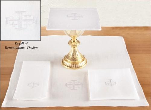 100% Linen Altar Appointment Set with Jerusalem Cross