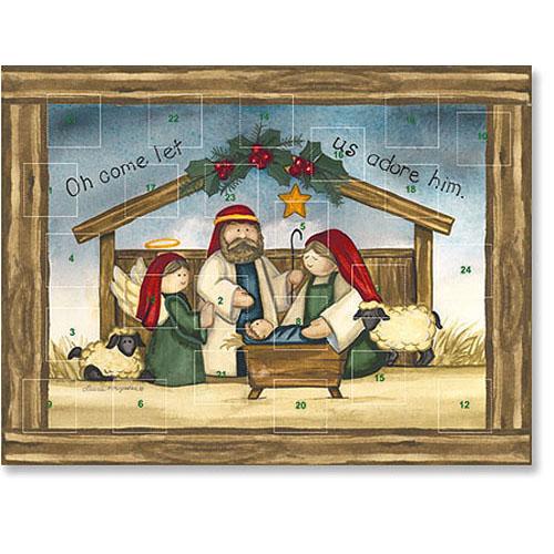 O Come Let us Adore Him Advent Calendar