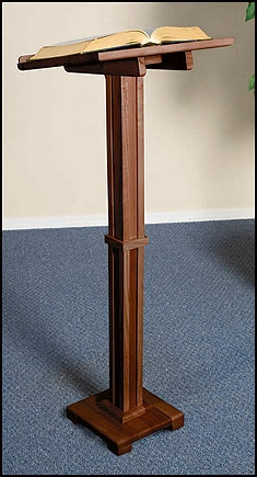 Standing Lectern - Walnut Stain
