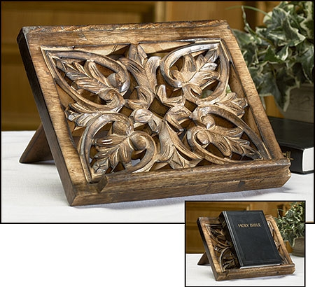 Ornate Carved Bible Stand