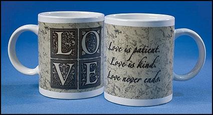 Love is Patient Ceramic Mug - 12/pk