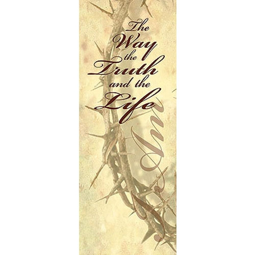 I Am Series X-Stand Banner - I Am The Way, The Truth and The Life