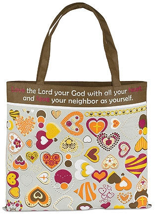 Love the Lord Your God Tote Bag - 12/pk