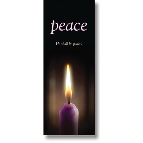 Advent Candle Series X-Stand Banner - Peace