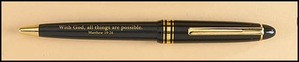 With God All Things Are Possible Greeting Pen