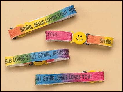 Smile Jesus Loves You Bracelet - 24/pk