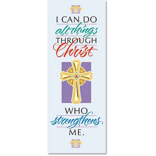 Famous Verse Series X-Stand Banner - I Can Do All Things