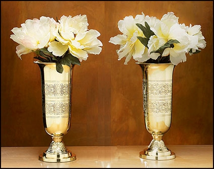 Filigree Altar Vases - Set of 2