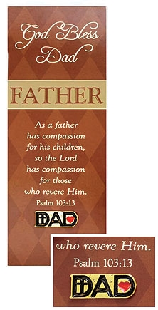 Dad Pin with Bookmark Set - 12/pk