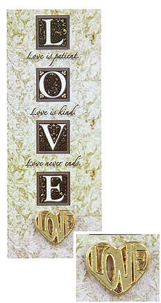 Love Heart Dove Pin & Bookmark Set - 12/pk