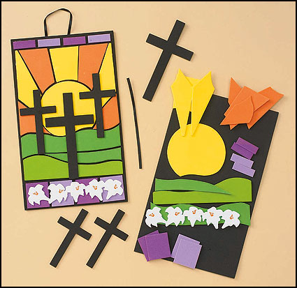 Easter Crosses Mosaic Scene Foam Craft Kit