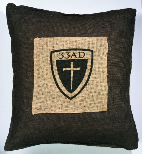 33 A.D. Cross with Shield Pillow