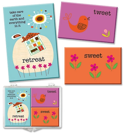 Retreat Magnet Set in Plastic Box - 6/pk
