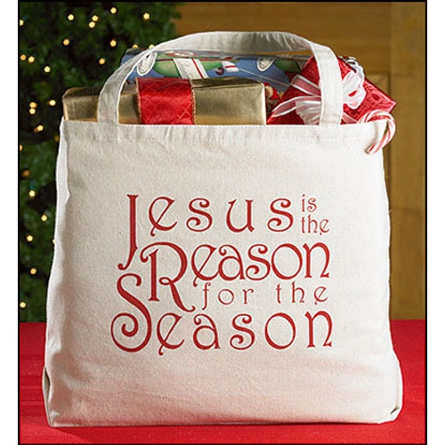 Large Jesus is the Reason… Tote Bag
