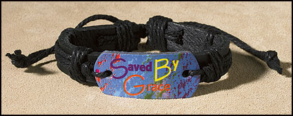 Saved By Grace Inspirational Youth Bracelet
